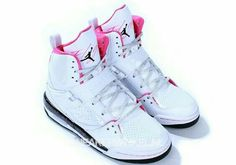 cb83d7b29581    Cheap Sale OFF!    Visit   air Jordans girls flight pink and white. Want  theseee!