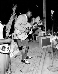 B.B. King at the Hippodrome, Beale Street, Memphis, 1950. Photo by Ernest C. Withers.