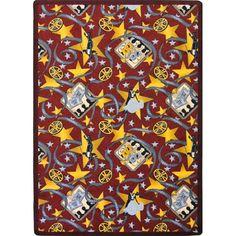 Joy Carpets 1684b 04 Burgundy Any Day Matinee Theater Area Rug
