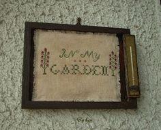 Crocette e Libri: In My Garden Freebie by Primitivebettys  Ricamato e confezionato da me.