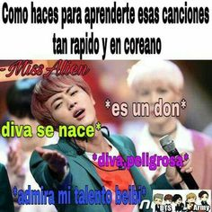 Es un don beibis Bv Memes Bts Español, Funny Memes, S Videos, Army Memes, Hot Korean Guys, Album Bts, Just Smile, Foto Bts, Read News