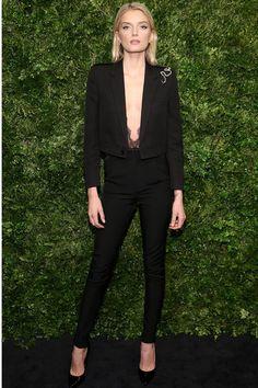 Lily Donaldson in Saint Laurent by Hedi Slimane | Vogue Paris