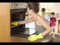Como limpiar el horno con vinagre y bicarbonato de soda para evitar limpiadores abrasivos. - YouTube