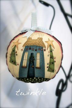 Christmas Ornaments Using Anni Downs' Christmastime Fabric Panel