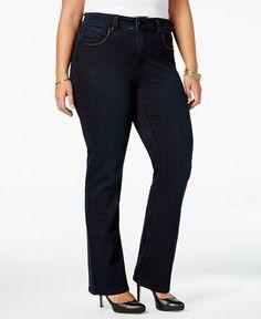 c56354b7c7e Melissa McCarthy Seven7 Trendy Plus Size Faux-Leather-Trim Jeans   Reviews  - Jeans - Plus Sizes - Macy s