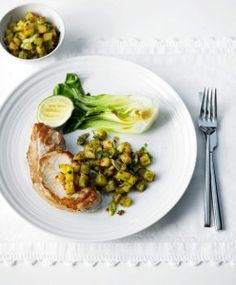 Pork with chilli pineapple salsa | M Stories