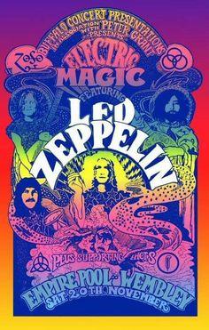 Vintage rock posters and Led Zeppelin Vintage Concert Posters, Posters Vintage, Retro Poster, Poster S, Led Zeppelin Poster, Led Zeppelin Concert, Led Zeppelin Art, Led Zeppelin Wallpaper, Vintage Rock