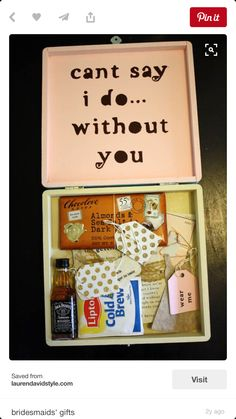 Gifts for brides maids groom man