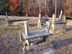 Slot & Tab Tombs Old Soule's Methodist Church cemetery Dahlonega Ga. by Robert Lz