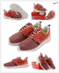 best service 5b917 1bb88 White Orange Nike Roshe Run NM BR 3M 644425-800 On Cyber Monday Z21BHR