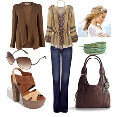 Urban Boho..... trade the shoes for cowboy boots though.