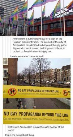 The Dutch are sassy.