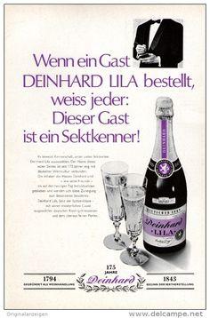 Original-Werbung/Inserat/ Anzeige 1969 1/1-SEITE - DEINHARD SEKT - ca. 250 X 160 mm