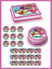 SHOPKINS 1 Edible Birthday Cake Topper OR Cupcake Topper, Decor