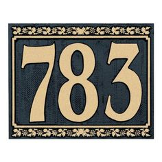 Whitehall Products Dresden Wall Address Plaque Finish: Antique Copper, Customize: Yes Address Numbers, Address Plaque, Porch Number, Craftsman House Numbers, Ceramic House Numbers, Contemporary Fonts, Tan House, New Homeowner Gift, House Number Plaque