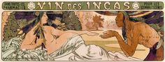 Alfons Mucha - Vin des Incas (1897) cocaine-fortifed wine