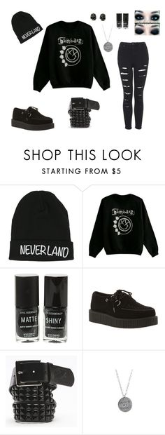 """""""Blink182"""" by walkingdeadnerd ❤ liked on Polyvore featuring Disney, T.U.K., Vans, Religion Clothing and Topshop"""