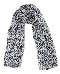 Echarpe Foulard Etole En Mousseline - Leopard Noir Blanc - Très agréable à  porter et 9ec79773935