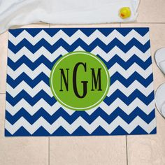 Personalized Monogram Madness Floor Mat