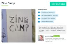 """Zine camp and other four-week online """"camp"""" courses for just $10"""