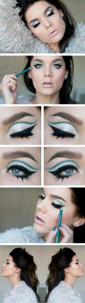 Blue eyeshadow sixties mod