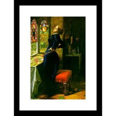 Buyenlarge Mariana in the Moated Grange by John Everett Millais Framed Painting Print