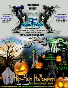 Hip-Hop Halloween at Fuzion Force Enterainment Academy Entertainment Logo, Diy Entertainment Center, Hip Hop Dance, Upcoming Events, Magazine Art, Dj, Entertaining, Halloween, Flyers