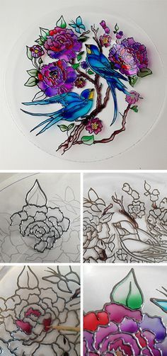 Stained glass painting tutorial