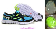 separation shoes 39a98 16baf Chalcedony Dragon Volt Lace Womens Blue Glow White Black Volt Nike Free Run  2 Shoes