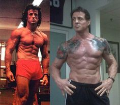 Strongest Muscular Celebrities Actors with Best Bodies Six Pack Abs who are Daddy's (Rocky) Sylvester Stallone Sylvester Stallone, Ab Workout Men, Best Ab Workout, Workout Protein, Workout Exercises, Harey Quinn, John Rambo, Best Abs, Bodybuilding Motivation