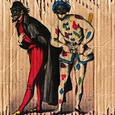 Pantalone with his servant Harlequin, two of the most recognisable characters of the Commedia dell'arte. #commedia #commediadellarte #pantalone #harlequin #master #servant #theatre #theater #performance #performingarts #theaterarts #drama #dramaclass #dramaarmy #italy #dramateacher #art #costume #costumes #mask #masks #arlecchino #clown #joker