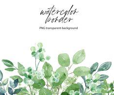 Watercolor Border, Watercolor Leaves, Leaf Border, Free Advertising, Print Templates, Beautiful Artwork, Digital Illustration, Party Invitations, Banner