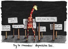 living life, drawing giraffes