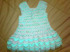 Vestido + crochet, girls dress