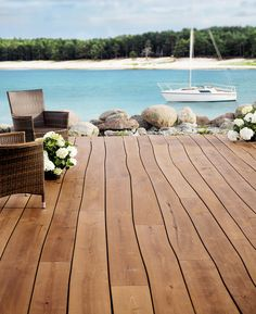 Terrace thermo ash by Bolefloor | Decking