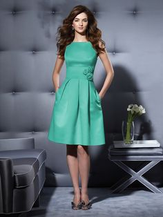 Dessy Bridesmaid Style 2780  Dress Colors: viewing - pantone turquoise Fabric: Duchess Satin purchase swatch