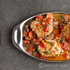 Chicken Cacciatore - Chew Out Loud