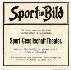 Original-Werbung/Inserat/ Anzeige 1904 - SPORT IM BILD -  ca. 90 x 85 mm