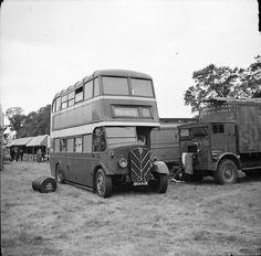 Liverpool Corporation AEC Regent BKA628 showmans caravan bus negative