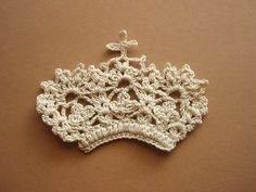 crocheted crown- I don't know what could be done with this. But I know exactly who I would give it to.