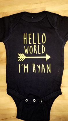 Hello World Onesies make a great baby shower gift! Message us to order yours today!