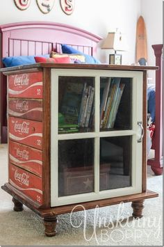 DIY night stands made from old Coca Cola crates by Maiden11976