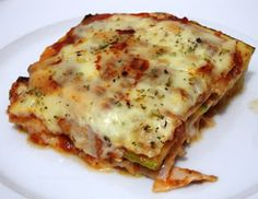 Dukan Diet Recipes: Zucchini Lasagna Dukan
