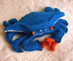 recycled sweater crab