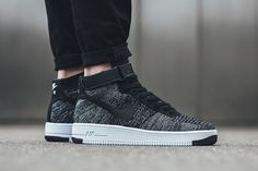 "Nike Air Force 1 Ultra Flyknit ""Black/White"" - EU Kicks Sneaker Magazine"