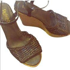 🚨 final price 🚨  basket weave wedges Cute black basket woven wedges. Size 9 Refresh Shoes Espadrilles
