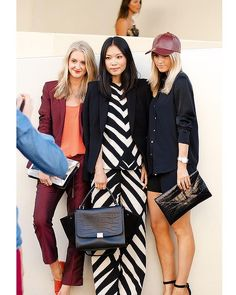 3 styles in one: monochromatic, sports luxe and burgundy