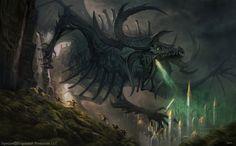 Stygius, The Dreaded Demon Dragon by damie-m on DeviantArt Demon Dragon, Fantasy Dragon, Dragon Art, Fantasy Monster, Monster Art, Creature Feature, Creature Design, Fantasy Creatures, Mythical Creatures