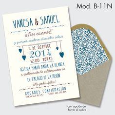 """Descubre """"invitación de boda estilo vintage"""", un proyecto de imprentapedragosa. La comunidad de la Clase Creativa."""