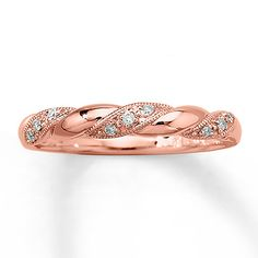 Diamond Ring  1/20 ct tw Round-cut  10K Rose Gold - this is so beautiful!  I love the simplicity!